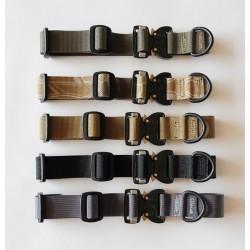 "Mini Small Medium Nylon D-Ring 1"" Flexible Dog Collar with Quick Release Cobra Buckle"