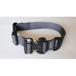 """Heavy Duty Nylon D-Ring 1.5"""" Flexible Dog Collar with Quick Release Cobra Buckle"""