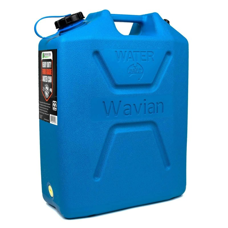 Wavian 5 Gallon 22L Drinking Water BPA Free Jerry Can Jug Storage Container Blue