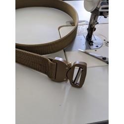 "Hank's Surplus Heavy Duty Double Layer EDC Belt 1.5"" COBRA Coyote Brown Buckle"