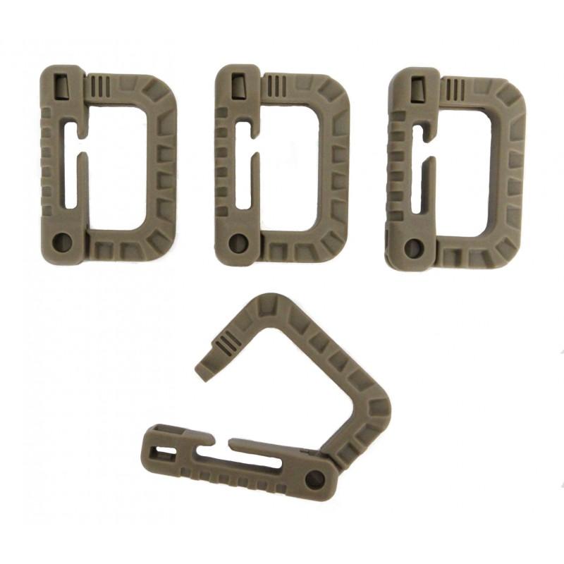 TAN 499 Tactical Carabiner Gear Clips.