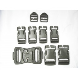 9 Piece Replacement Buckle & Snap Set
