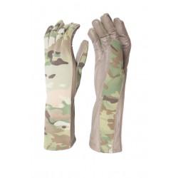 Hank's Surplus MultiCam Pilot Flight Leather Gloves