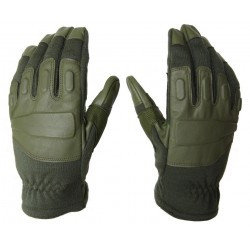 Hank's Surplus Leather Nomex Tactical Gloves Sage Green