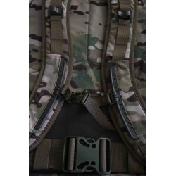 Hank's Surplus MultiCam Multi-Day Backpack Front Shoulder and Sternum View