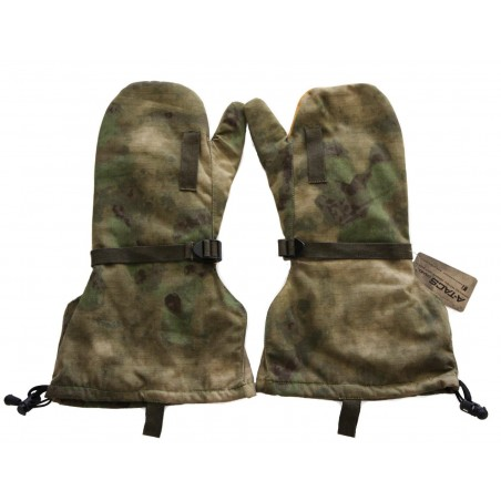 Hank's Surplus Military Camouflage Arctic Cold Weather Leather Mittens & Wool Liners