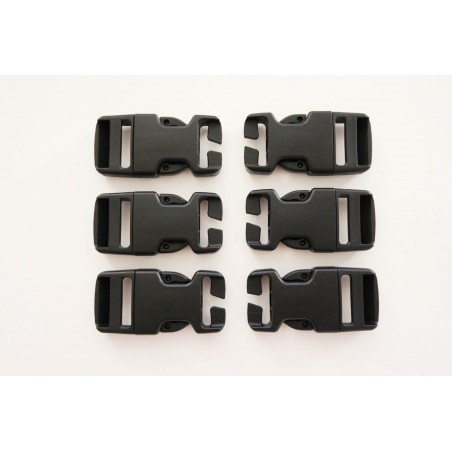 """Hank's Surplus Replacement Backpack Pack Quick Connect Snap Buckles 1"""" (Pack of 6)"""