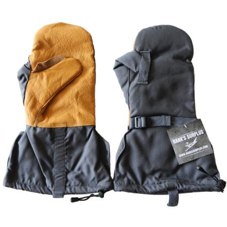 Hanks Surplus MultiCam Camouflage Cold Weather Leather Mitten Gloves
