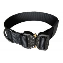 "Heavy Duty Nylon D-Ring 1.5"" Flexible Dog Collar with Quick Release Cobra Buckle"